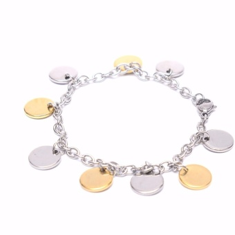 Stainless Steel Ladies Two Tone Bracelet