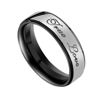 """Stainless Steel """" True Love """" Engagement Ring Couple Wedding Jewelry US 7"""