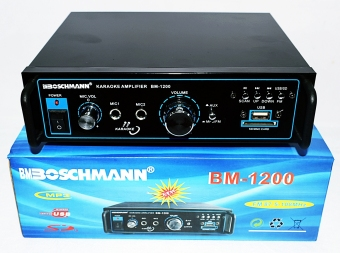 STEREO AUDIO BOSCHMANN POWERED KARAOKE AMPLIFIER BM-1200