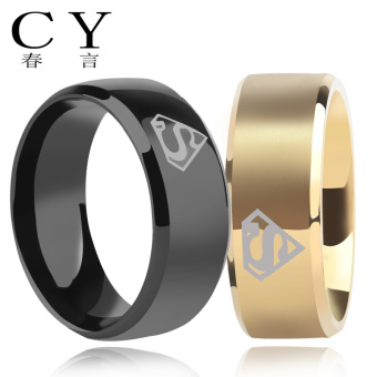 Stylish guy's European and American men's single Ring Titanium Steel Ring