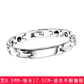 Stylish guy's Korean-style titanium steel couple's bracelet