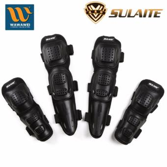 Sulaite Motorcycle protective equipment knee and elbow wheel pulleyanti fall GT-010 (Black) #31698