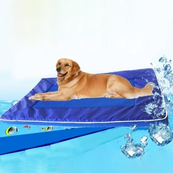 Summer Dog Pad Bed House Pet Cool Down Pad Detachable Dog MatCushion,Large, Size:73*46*4cm - intl