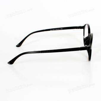 Sun Round Sunglasses Unisex Eyewear Glossy Black - 3