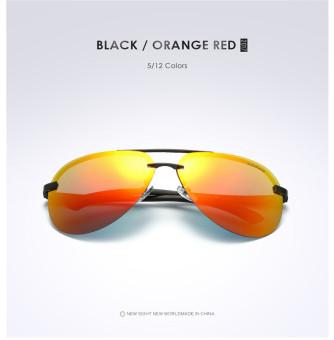 Super Aluminum Magnesium Polarized Men's Square Male Sun glasses Driving Eyewear Outdoor Sports Goggle Sunglasses aviator 3025 polaryte hd - intl - 2