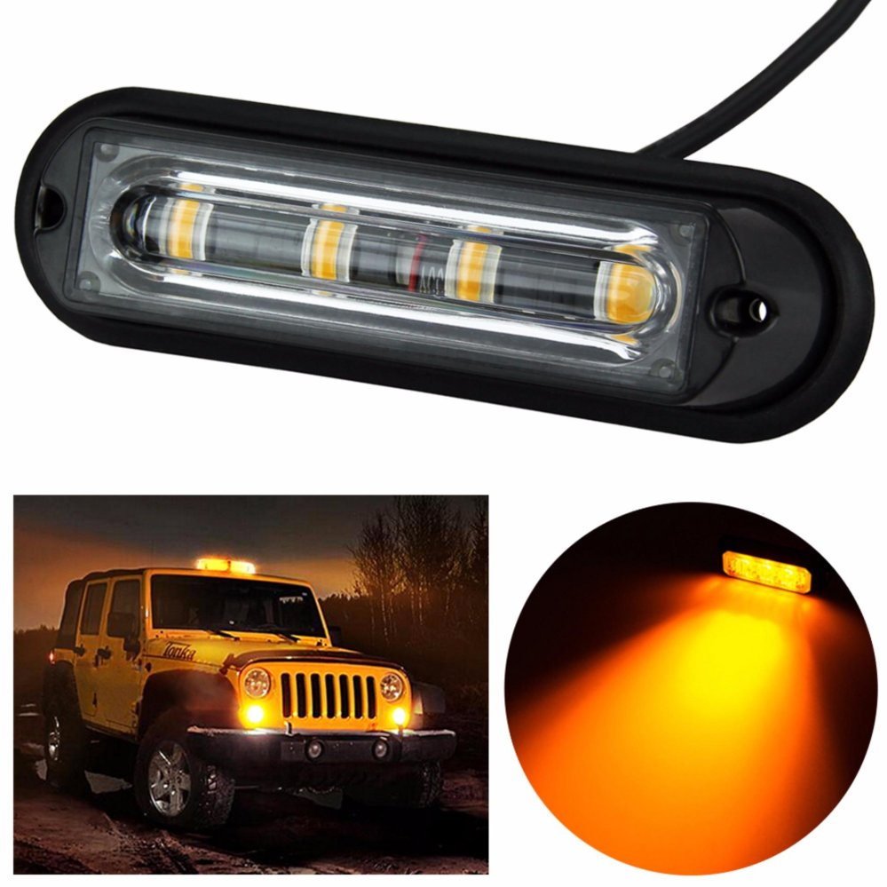 Philippines Super Bright 4 Led Waterproof Car Truck Strobe Leds On 12v For Cars And Trucks Emergency Warningflash Light Drl Dc 24v