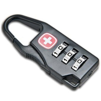 Swiss Metal Mini Combination Digit Password Lock Padlock (Black)