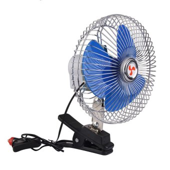 Sworld 8 Inch 12V Portable Vehicle Auto Car Fan Oscillating CarAuto Cooling Fan (Intl)