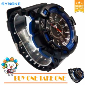 SYNOKE C804 Fashion Men Black Silicone strap Sport Quartz Wrist Watch BUY ONE TAKE ONE Price Philippines