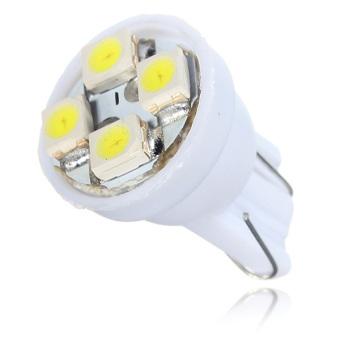 T10 4 LED SMD Car Wedge Light DC12V Pure White 2PCS - picture 2