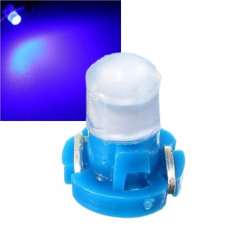 T3 Wedge LED Bulb Cluster Instrument Dash Climate Base Lamp Lights Blue - intl