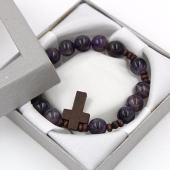 Tara Treasure Amethyst Rosary Bracelet 10mm - 2
