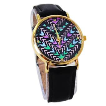 TECH GEAR Geneva Atarah Women's Black Leather Strap Watch B2GLW006