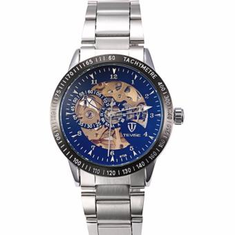 Tevise Automatic Stainless Steel Strap Men's Watch 673S (Silver/Black/Blue)