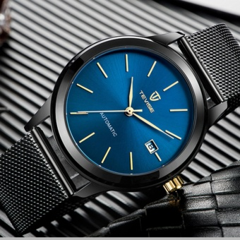 TEVISE Men Watches Gold Mesh Steel Automatic Mechanical Watch Luxury Brand Waterproof Men Watch Calendar Clock Relogio Masculino 9017 - intl - 2