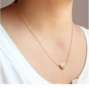 Than's Tiny Gold Sweet Single Heart Necklace