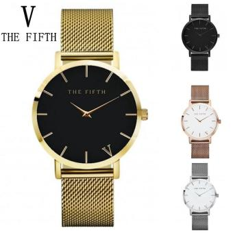 THE FIFTH Steel mesh belt quartz watch men fashion watch - intl