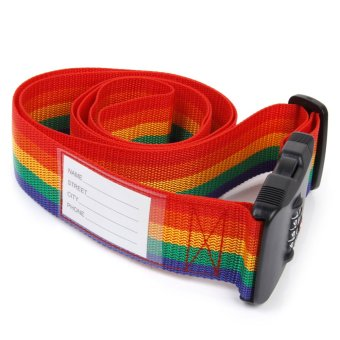 The3-Dial TSA Combination Lock Key Luggage Strap Belt (Multicolor)