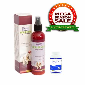 Tick Buster Anti-Tick Fipronil Spray Treatment 200mL with Omega3-K9 Pure Deep Sea Fish Oil Supplement 30 Soft Gels Price Philippines