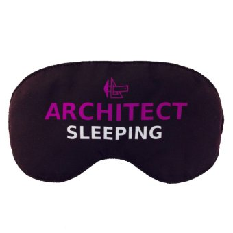 Tickles Architect Sleeping Eye Mask (Black)