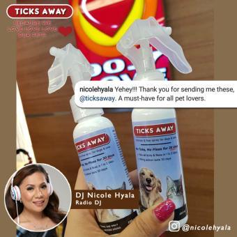 Ticks Away anti tick (garapata) & flea (pulgas) & lice (kuto) spray for dogs & cats - fipronil active ingredient - 2