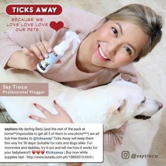 Ticks Away anti tick (garapata) & flea (pulgas) & lice (kuto) spray for dogs & cats - fipronil active ingredient - 3