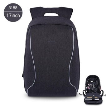 Tigernu 17 Inches Fashion Business Casual Laptop Backpack For12-15.6inches Laptop3188(black grey) - intl