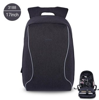 Tigernu 17 Inches Fashion Business Casual Laptop Backpack For12-15.6inches Laptop(black grey)