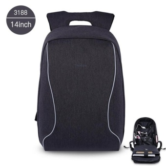 Tigernu Anti-Theft Casual 14 Inches Laptop Backpack for 10-14InchesLaptop(Black Grey) - intl