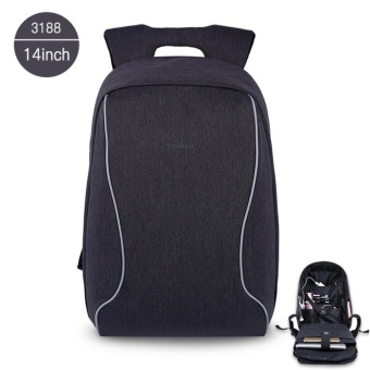 Tigernu Brand 14 Inch Laptop Bags Fashion Anti-Theft Men 's Business Backpack T-B3188(Black Grey)