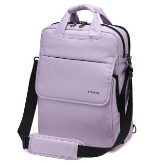 Tigernu School Youth Teenager Waterproof Anti-theft Bag ShoulderColorful Laptop Backpack T-B3153(Black) - 5