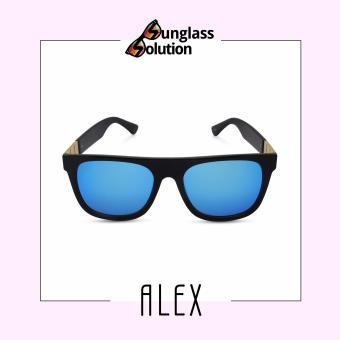 Timeless Manila Alex 5658 Wayfarer Sunglasses Shades (Blue)