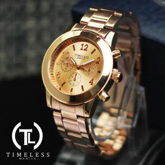 Timeless Manila Caitlyn Chrono Metal Watch (Rosegold)