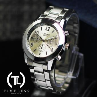 Timeless Manila Caitlyn Chrono Metal Watch (Silver)