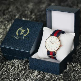 Timeless Manila Carl Nylon Adjustable Watch (Red/Blue) with Free Timeless Manila Watch Box