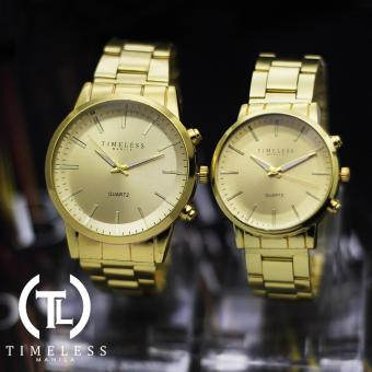 Timeless Manila Charlie Couple Gold Metal Watch