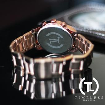Timeless Manila Charlotte Chrono Crystal Watch (Bronze) with free Slim LED (Navy Blue) - 4