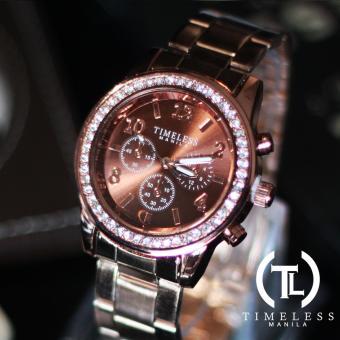 Timeless Manila Charlotte Chrono Crystal Watch (Bronze) with free Slim LED (Navy Blue) - 2