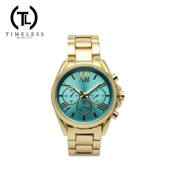 Timeless Manila Chrono Gold Metal Watch (Sapphire)