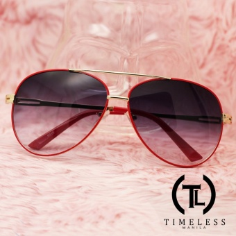 Timeless Manila Eve 6010 Aviator Classic Sunglasses Shades (Red)
