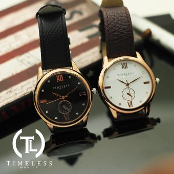 Timeless Manila Ivy Studded Leather Watch Buy 1 Take 1 (Black & White)