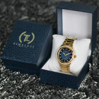 Timeless Manila Patricia Crystal Studded Metal Watch (Navy Blue)with Free Timeless Manila Watch Box Price Philippines