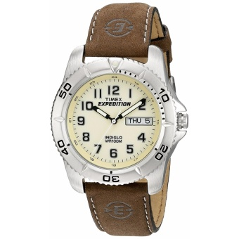 Timex Men's T46681 Expedition Traditional Brown Leather Strap Watch