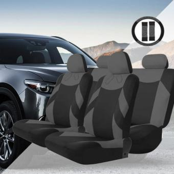 Tirol Universal 13PCS Car Seat Cover Front Seat Bench Seat CoversWheel Cover Set (Gray) Price in Philippines