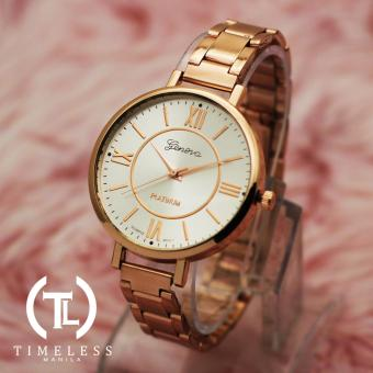 TM Geneva Lady Olivia Roman Numeral Fancy Ultra Slim Watch (RoseGold) Price Philippines