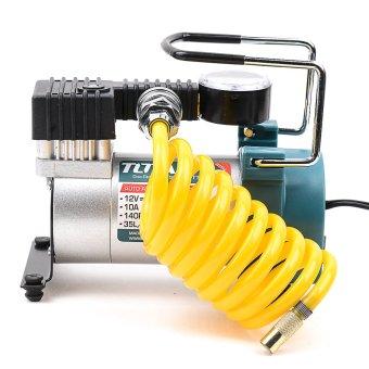 Total Auto/Mini Air Compressor 12V 140 PSI Heavy Duty (Multi Color)