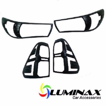 Toyota Hilux Revo (2 Sets) Headlight and Tailight Cover Matte BlackProtector