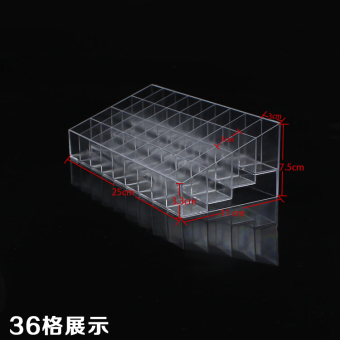 Transparent dressing table skin care jewelry box finishing storage box