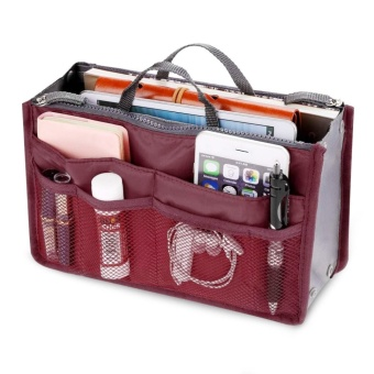 Travel Luggage Toiletries Cosmetics Bags Cosmetic Pouch OrganizerStorage Bag (Wine Red) - intl