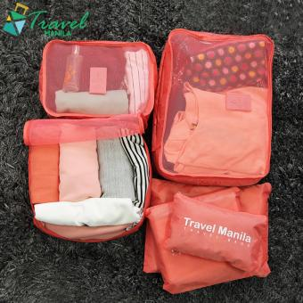 Travel Manila 6 in 1 Packing Bags (Salmon)